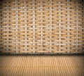 Wicker creative textured interior background Royalty Free Stock Image