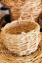 Wicker decorative basket Stock Photos