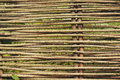 Wicker fence wooden as background Stock Photography