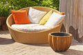 Wicker Garden Furniture Stock Photos