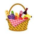 WIcker picnic basket Royalty Free Stock Photo