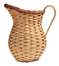 Wicker pitcher Royalty Free Stock Photo
