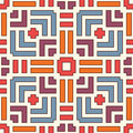 Wicker seamless pattern. Basket weave motif. Bright colors geometric abstract background with overlapping stripes.