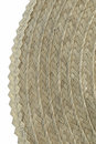 Wicker straw texture close up Stock Photos