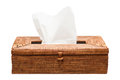 Wicker Tissue Box Royalty Free Stock Photo
