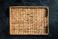 Wicker tray for food Royalty Free Stock Photo