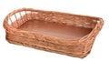Wicker tray Royalty Free Stock Photo