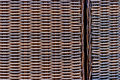 Wicker woven texture used to make garden furniture Royalty Free Stock Images