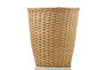 Wickerwork paper bin isoleted on white background Royalty Free Stock Photography