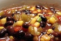 Wide Angle Black Bean Soup Royalty Free Stock Image