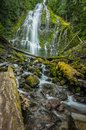 Wide Angle of Proxy Falls from the Bottom Royalty Free Stock Photo