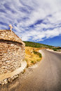 A wide angle shot of a small church on zakynthos island greece Stock Photos