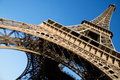 Wide angle view of the Eiffel Tower Royalty Free Stock Photo