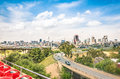 Wide angle view of Johannesburg skyline from the highways Royalty Free Stock Photo