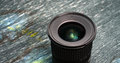 Wide angle zoom dslr lens picture of a Royalty Free Stock Image