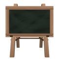 Wide Blackboard On Stand Objec...