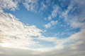 Wide blue sky Royalty Free Stock Photo