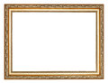 Wide carved ancient gold wooden picture frame Royalty Free Stock Photo