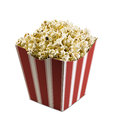 Wide classic box theater popcorn isolated white Stock Photo