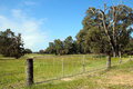 Wide Metal  Farm Gate Royalty Free Stock Photo