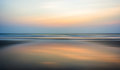 Wide ocean horizon sunset Royalty Free Stock Photo