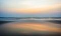Wide ocean horizon sunset Royalty Free Stock Photo