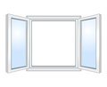Wide open window vector illustration Stock Images