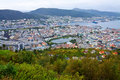Wide panorama of Bergen, Norway Royalty Free Stock Photos
