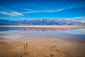 Wide Reflection of Desert Mountains Royalty Free Stock Photo