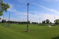 Wide Soccer Pitch Shot Royalty Free Stock Photo