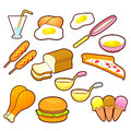 A wide variety of Foods Icons sets. Creative Icon Design Series. Royalty Free Stock Photo