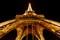 Wide view of eiffel tower illuminated in the night paris franc june light show on june france is highest and most visited monument Royalty Free Stock Photos