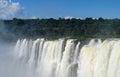 Wide waterfall sprays Royalty Free Stock Photo