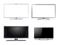 Widescreen hdtv lcd monitor isolated on white Stock Photo