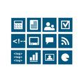 Widget icons vector Stock Photography