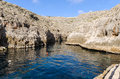 Wied iz zurrieq zurrieq malta the beautiful cliffs on the coastline of the south of Royalty Free Stock Photo