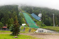Wielka krokiew ski jumping arena in zakopane on june the great tatra mountains is a regular venue the fis Royalty Free Stock Photo