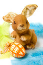 Wielkanoc jajka zabawny króliczek Zdjęcia Royalty Free