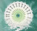 Wielki świat euro Zdjęcia Stock