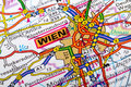 Wien map the city of wiena in detail on the Royalty Free Stock Images