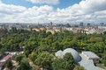 Wien panorama of the city of vienna from wiener riesenrad prater amusement park Stock Photo