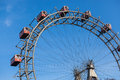 Wiener riesenrad famous ferris wheel in wien Royalty Free Stock Photo