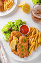 Wiener schnitzel original Royalty Free Stock Photo