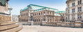 Wiener staatsoper vienna state opera in vienna austria panoramic view of Royalty Free Stock Photography
