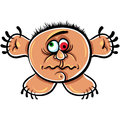 Wierd cartoon monster crazy numskull portrait absolute well that is how i feel when you download it vector illustration Royalty Free Stock Images