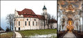 Wieskirche a composite image of the pilgrimage church of wies the the masterpiece of architect dominicus zimmermann is a paragon Stock Images