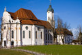 Wieskirche sancturary in the south of bavaria in the famous romantic road Royalty Free Stock Photo