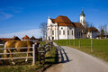 Wieskirche sancturary in the south of bavaria in the famous romantic road Stock Images