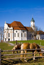 Wieskirche sancturary in the south of bavaria in the famous romantic road Stock Photo