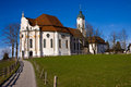 Wieskirche sancturary in the south of germany Royalty Free Stock Images